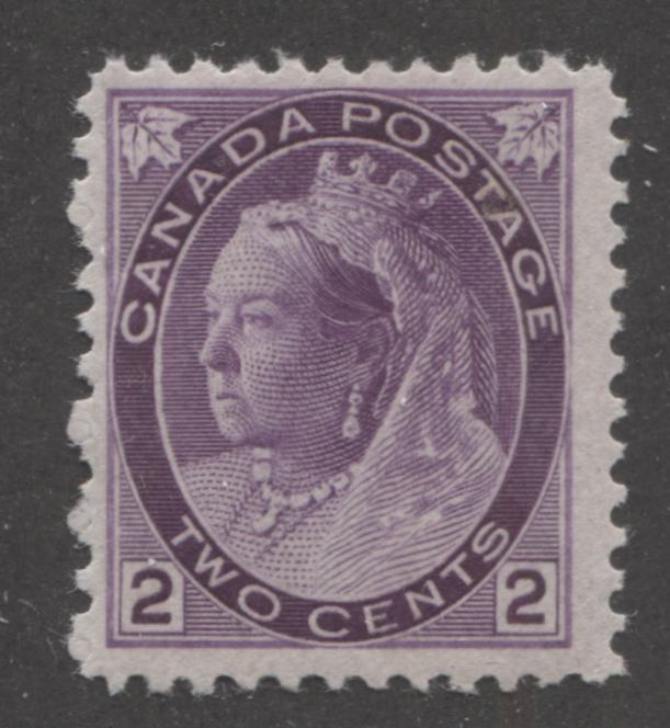 Canada #76i 2c Violet Queen Victoria, 1898-1902 Numeral Issue, A Fine Mint NH Example