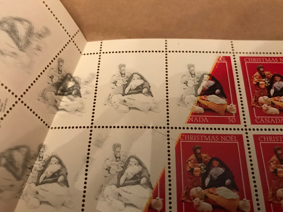 Canada #973a & 973b - 1982 Christmas Issue, The Unique Foldover Error Sheet of 50