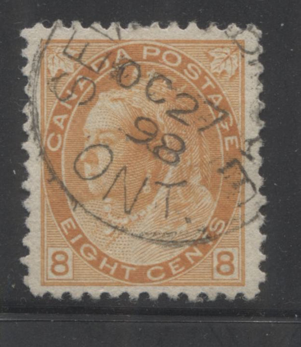 Canada #82 (SG#161) 8c Orange 1898-1902 Numeral Issue, A Fine OG Mint Example