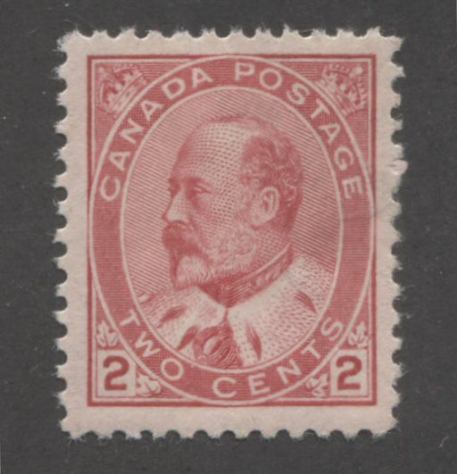Canada #90 (SG#176) 2c Carmine Rose King Edward VII Type 2, A Very Fine OG Example