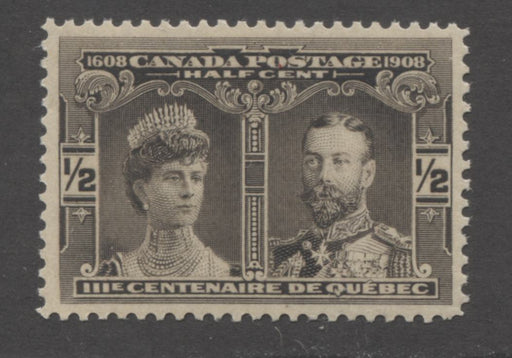 Canada #96 (SG#188) 1/2c Brown Black Quebec Tercentenary , A Very Fine Mint NH Example