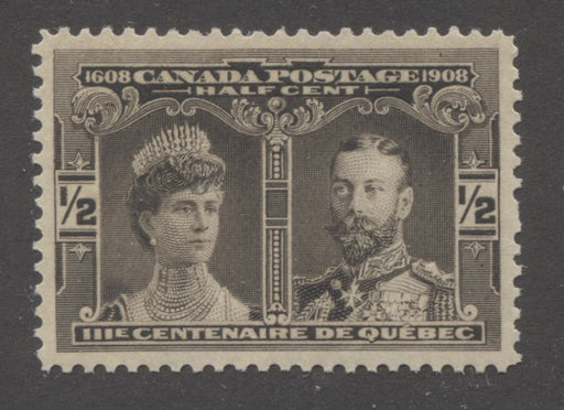 Canada #96 (SG#188) 1/2c Brown Black Quebec Tercentenary , A Superb Mint NH Example, With Light Gum Disturbance