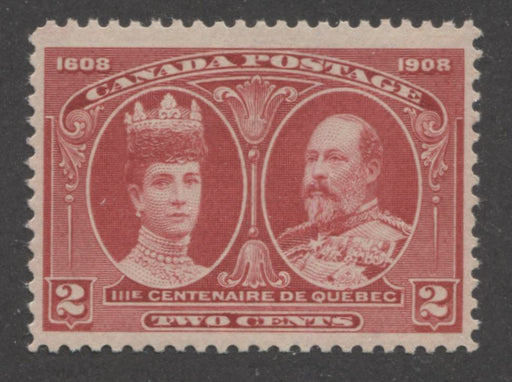 Canada #98 (SG#190) 2c Carmine Rose Quebec Tercentenary Coarse Mesh Paper, A VFNH Example With Light Gum Disturbance