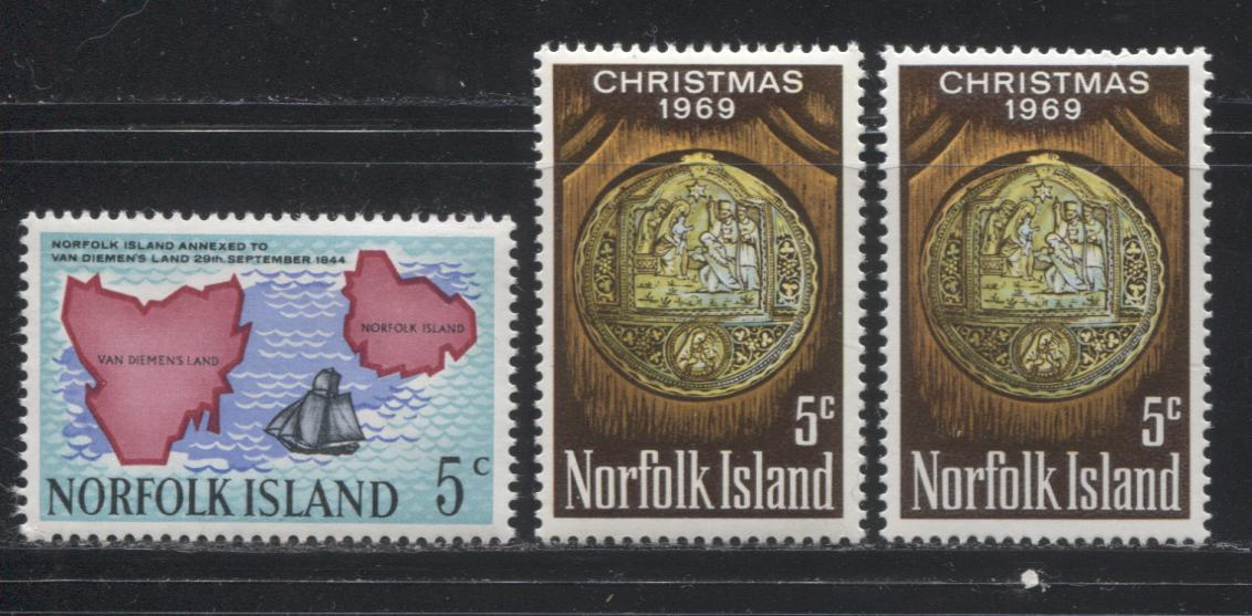 Norfolk Island #88-99, 114-125, 144-155 1966-1973 Commemoratives a Mostly all VFNH Selection