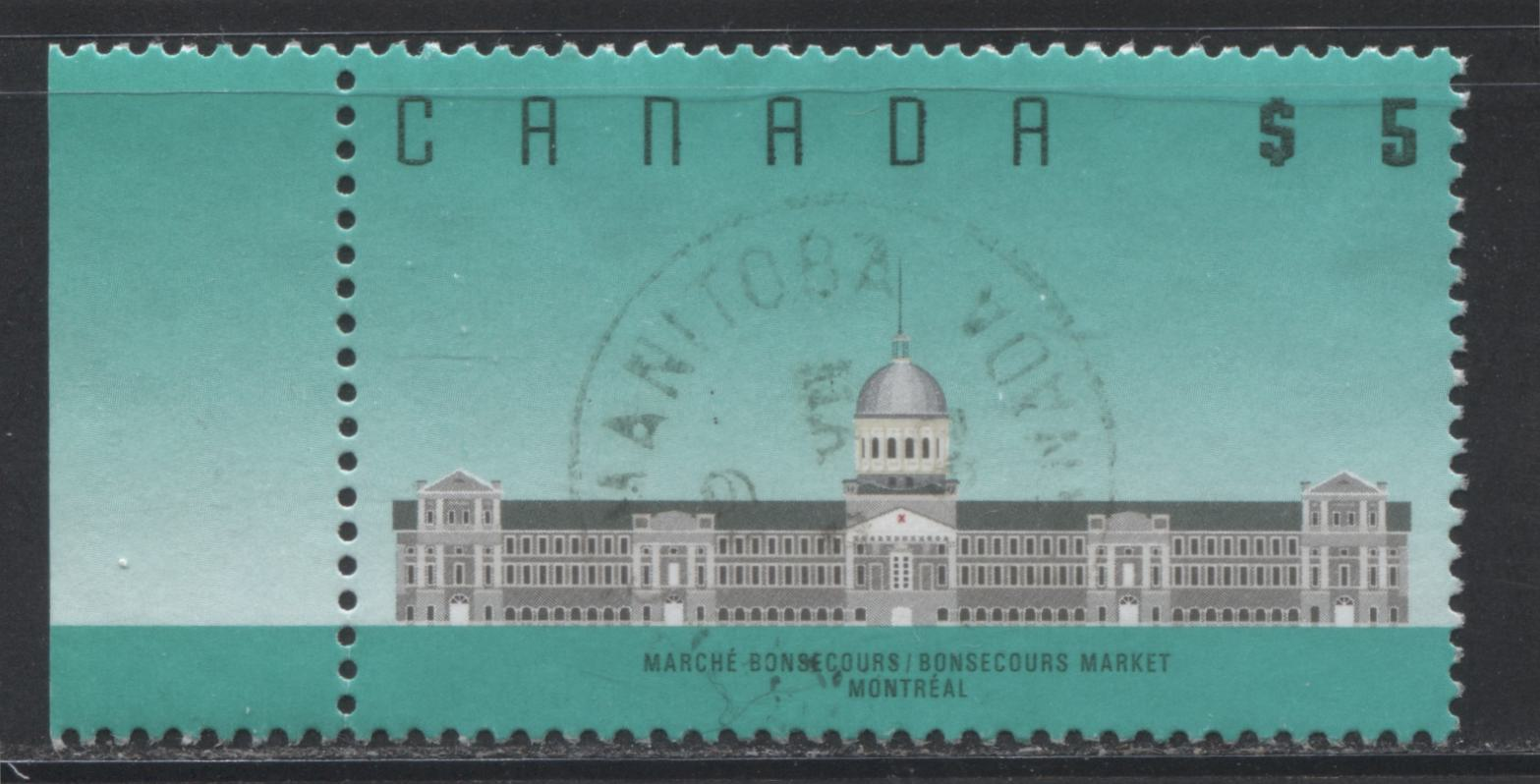 Canada #1183 $5 Bonsecours Market 1988-1991 Wildlife and Architecture Issue, a VF Used Example on Peterborough Paper With a July 8, 1992 CDS Cancel