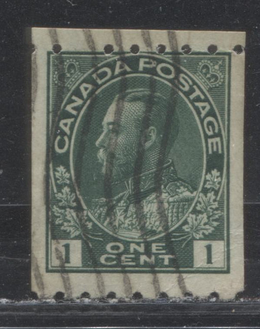 Canada #123 1c Deep Blue Green 1911-27 Admiral Issue Perf. 8 Horizontal, A VG Used Example
