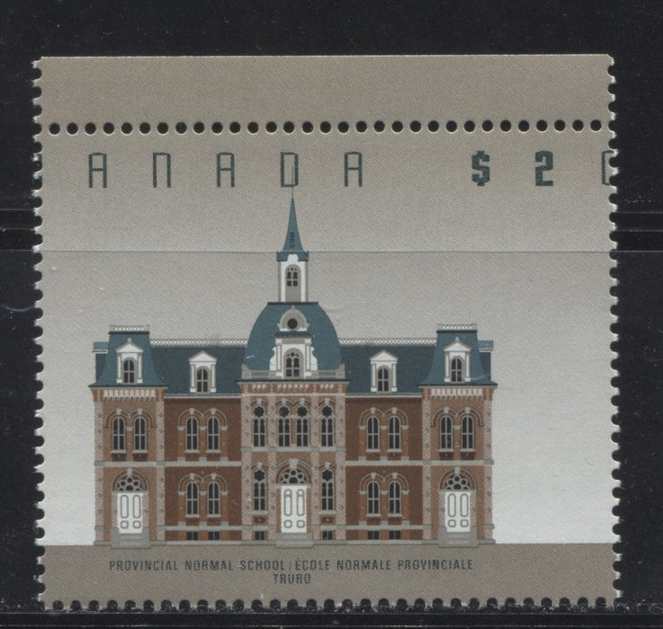 Canada #1376cvar $2 Truro Normal School, 1991-1998 Fruit and Flag Issue, a VFNH Example of the CBN Printing Showing Significant Misperf.