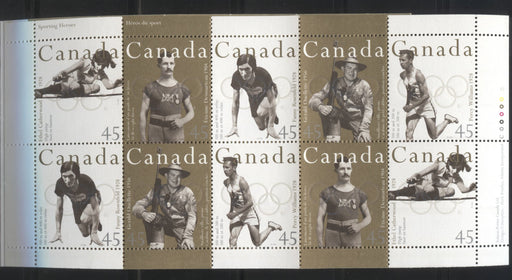 Canada #BK192b 1996 Olympic Gold Medallists Issue, Complete $4.50 Booklet, Coated Papers Paper, Dead Paper, All Over Tagging