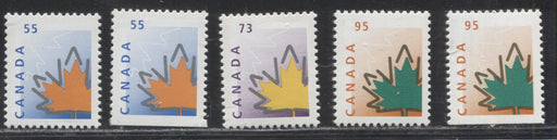 Canada #1684-1686as 55c-95c Multicoloured Maple Leaf, 1998-2005 Trades and Wildlife Issue, VFNH Examples of the Sheet and Booklet Stamps