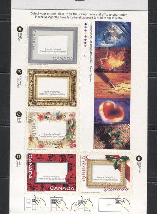 Canada #BK246a-b 2001 Picture Postage Greetings Issue, 2 Complete $2.35  Booklets, Dull and Medium Fluorescent JAC Papers, 4 mm GT-4 Tagging