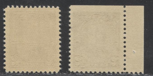 Canada #218, 218as 2c Brown King George V, VFNH Examples of the Sheet and Booklet Stamps Printed on Different Papers