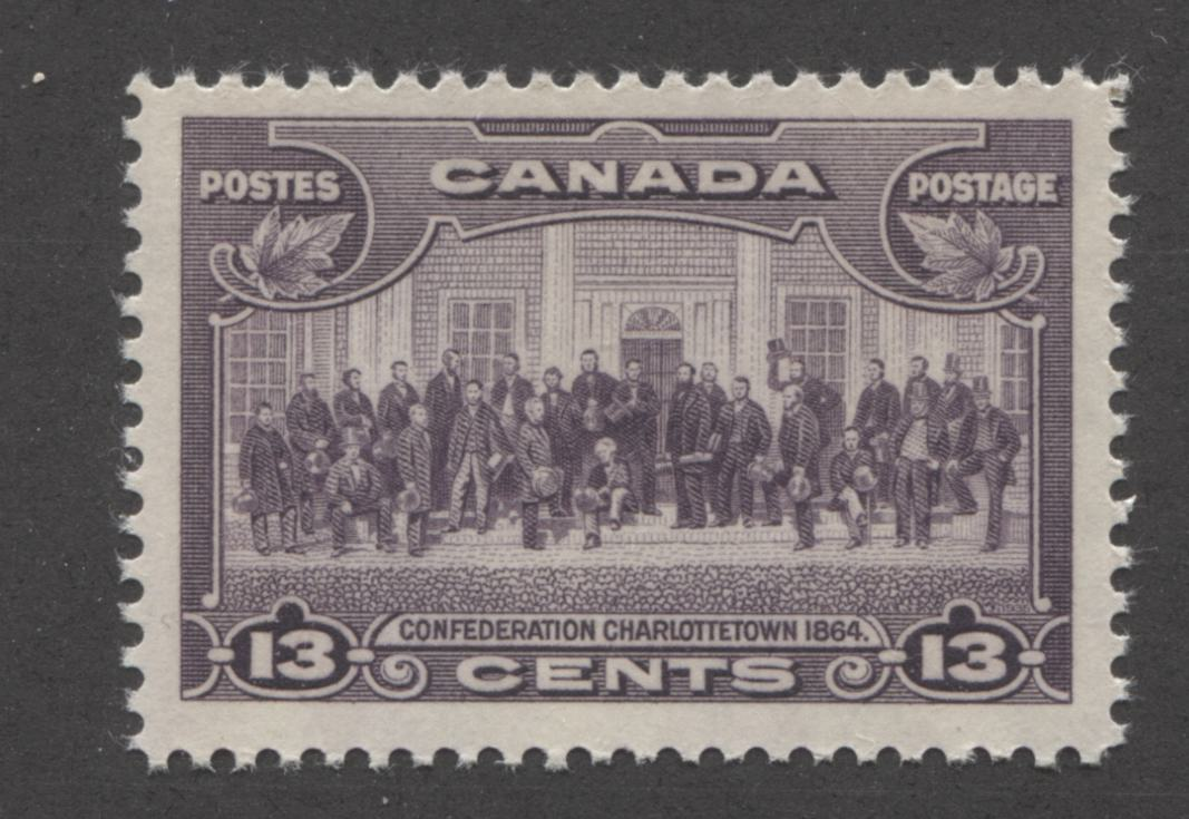 Canada #224 (SG#348) 13c Deep Rose Lilac Charlottetown Conference 1935-1937 Dated Die Issue VF-75 NH