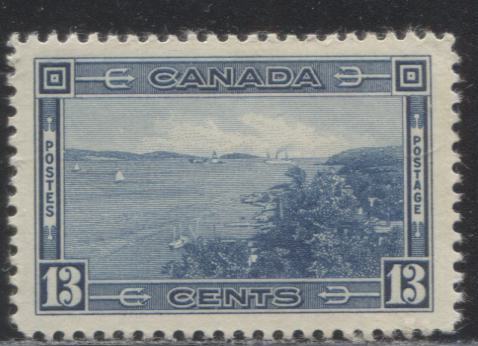 Canada #242 13c Deep Dull Blue Halifax Harbour 1937-1942 Mufti Issue Very Fine Mint NH Example of a 1938-1940 Printing