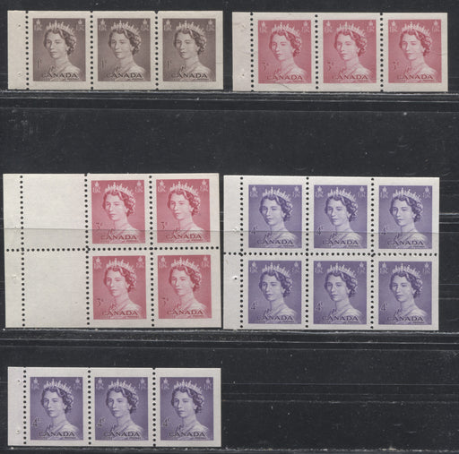 Canada #325a/328b 1953-1954 1c-4c Karsh Issue, A Complete Set of VFLH & NH Booklet Panes