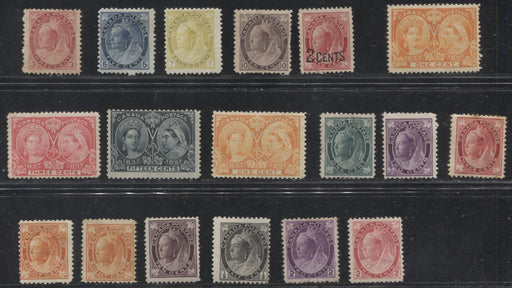 Canada #51/87 1897 Diamond Jubilee Issue - 1898-1902 Numeral Issue, A Useful and High Catalogue Group of Largely VG - Fine Unused Stamps