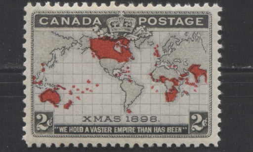 Canada #85 (SG#166) 2c Lavender, Carmine & Black 1898 Christmas Issue, A VFOG Example of the Belgian Congo Joining the British Empire Flaw
