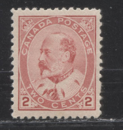 Canada #90 (SG#176) 2c Carmine Rose King Edward VII Type 2, A Very Fine NH Example