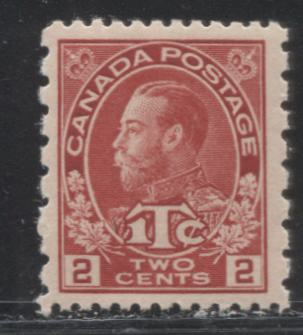 Canada #MR5 2c+1c Deep Bright Carmine Red King George V, 1916-1918 Admiral War Tax Issue, A Very Fine Mint NH Example of the Perf. 12 x 8