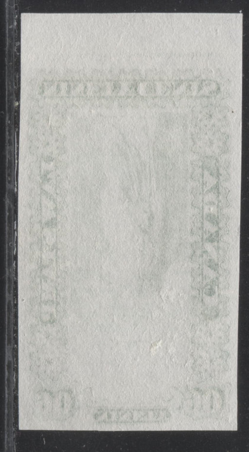 Canada #OL10P 90c Sap Green, Justice and Scales, 1864 Ontario Law Issue, Imprint Plate Proof on India Paper