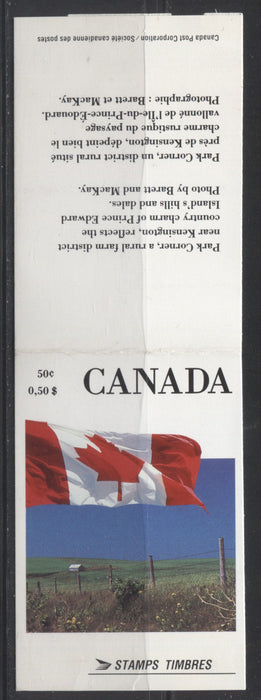 Canada #BK111A (McCann BK111Aa) 1988-1991 Wildlife and Architecture Issue, a VFNH 50c Vending Machine Booklet, DF/MF-fl Cover, Perf. 12.5 x 13 NF/NF Slater Pane