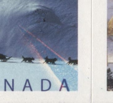 "Canada #BK317Aa 2004-2010 Floral and Flag Issue, A VFNH $5.10 Booklet Containing 51c Canadian Flag Over Scenes, Lowe Martin Printing on NF TRC Paper, HB Cover, Strong Tagging, 29 Slit Roulette, ""Sun Ray Flaw"""