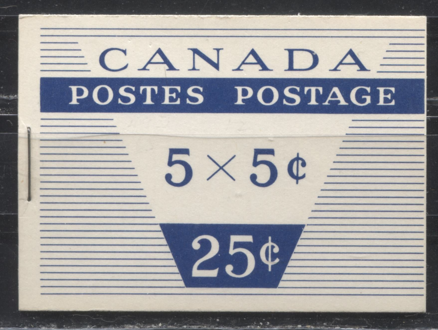Canada McCann #BK52k (Unitrade #BK52c) 1962-1967 Cameo Issue, a VFNH Booklet Containing A 5c Pane of 5 + Label, Type III Cover, DF Ivory Front Cover, DF Grayish White Back Cover, LF Pane, No Interleaf