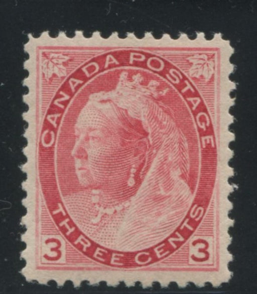 Canada #78 (SG#156) 3c Dark Red 1898-1902 Numeral Issue, a VFNH Example on Vertical Wove