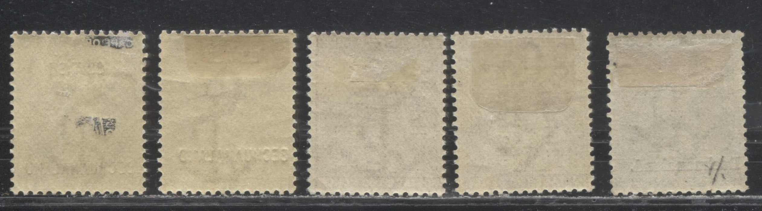 Bechuanaland Protectorate #29, 32, 40 (SG#30, 32, 56) 1/2d Grey Black - 2d Bistre Brown, 1888-1897 Overprinted Seated Hope Keyplate Issues, VF Mint Examples, Including Overprint Varieties