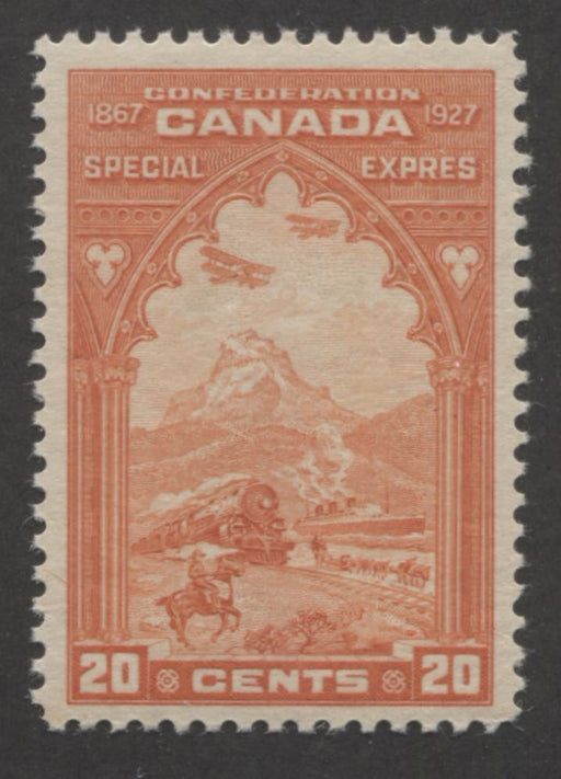 Canada #E3 (SG#S5) 20c Reddish Orange 1927 Special Delivery Horizontally Wove VF-75 NH