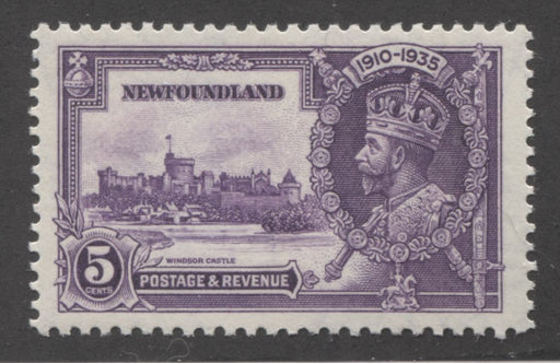 Newfoundland #227 (SG#251) 5c Deep Reddish Violet 1935 Silver Jubilee, A Very Fine Mint NH Example