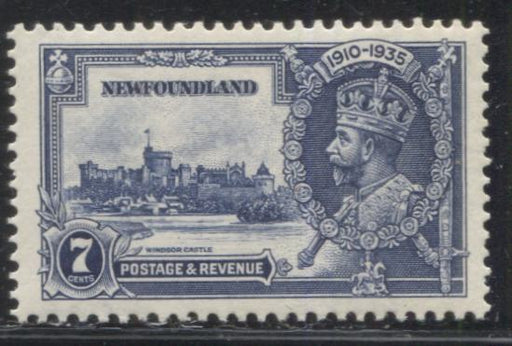 Newfoundland #228 (SG#252) 7c Deep Blue 1935 Silver Jubilee Issue, A Very Fine Mint NH Example