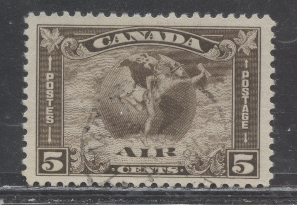 Canada #C2 (SG#310) 5c Agate 1930 Arch Issue Airmail Cream Gum a VF Used Example