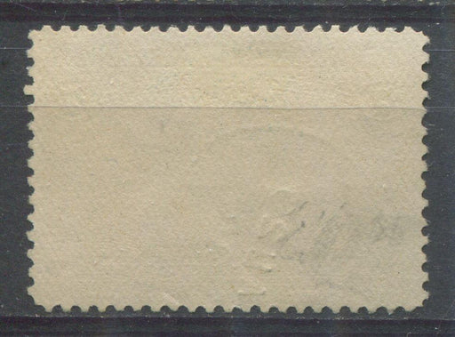 Canada #100 (SG#192) 7c Olive Green Quebec Tercentenary Coarse Mesh Paper VF-78 Used Brixton Chrome