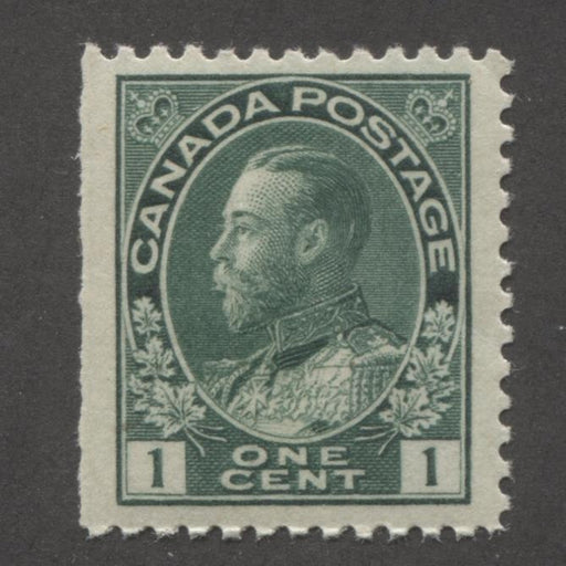 Canada #104 (SG#197) 1c Deep Myrtle Green 1911-22 Admiral Issue Fine Mesh Paper VF-80 NH Brixton Chrome