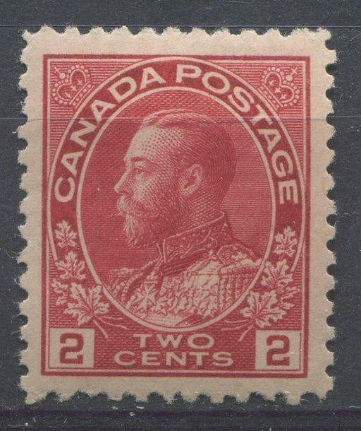 Canada #106ii (SG#200) 2c Bright Rose Red 1911-1928 Admiral Issue - VF-76 OG Brixton Chrome