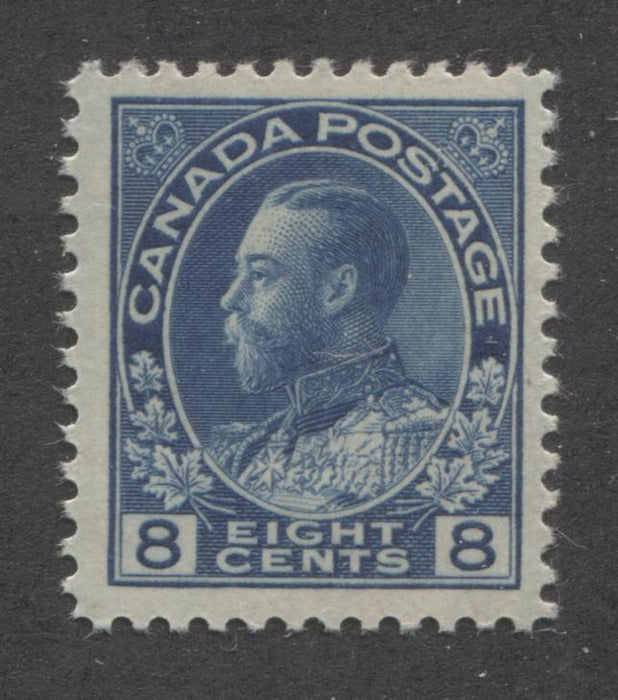 Canada #115 (SG#252) 8c Deep Bright Blue 1911-27 Admiral Issue Paper With No Mesh Very Fine Mint NH Brixton Chrome