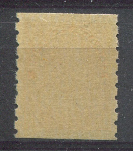 Canada #126 (SG#256b) 1c Orange Yellow 1911-27 Admiral Die 2 Dry Printing Perf. 8 Vertically F-71 NH Brixton Chrome