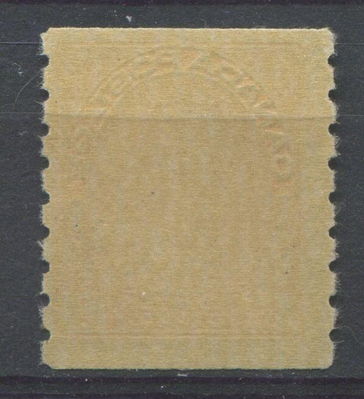 Canada #126 (SG#256b) 1c Pale Orange Yellow 1911-27 Admiral Die 2 Dry Printing, Perf. 8 Vertically F-70 NH Brixton Chrome