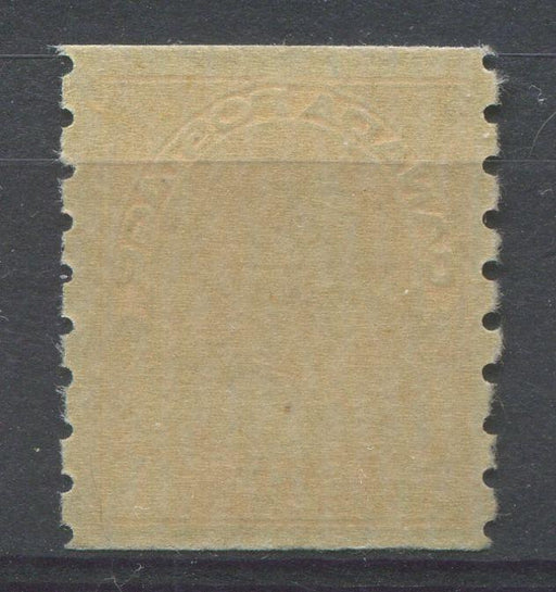 Canada #126 (SG#256b) 1c Pale Orange Yellow 1911-27 Admiral Die 2 Dry Printing, Perf. 8 Vertically F-73 NH Brixton Chrome