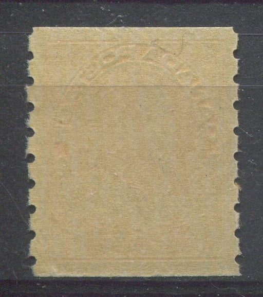 Canada #126 (SG#256b) 1c Pale Orange Yellow 1911-27 Admiral Die 2, Dry Printing, Perf. 8 Vertically VF-75 NH Brixton Chrome