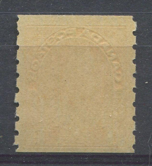 Canada #126 (SG#256b) 1c Pale Yellow Orange 1911-27 Admiral Die 2, Dry Printing, Perf. 8 Vertically VF-75 NH Brixton Chrome