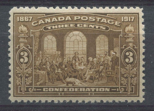 Canada #135 (SG#244) 3c Light Bistre Brown 50th Anniversary of Confederation VF-82 OG Brixton Chrome