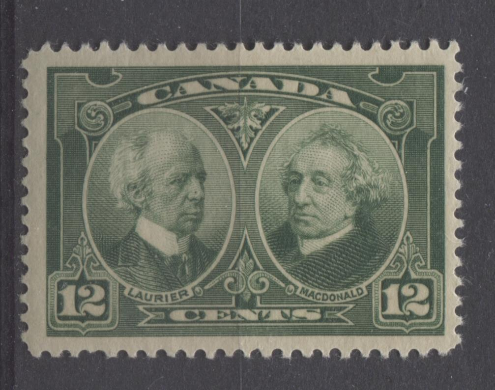 Canada #147 (SG#272) 12c Deep Green Laurier & Macdonald 1927 Historical Issue F-65 NH Brixton Chrome