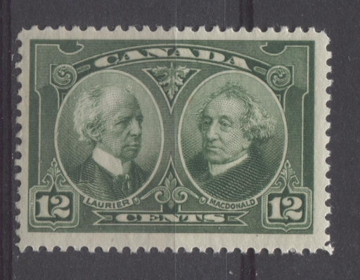 Canada #147 (SG#272) 12c Deep Green Laurier & Macdonald 1927 Historical Issue F-70 NH Brixton Chrome