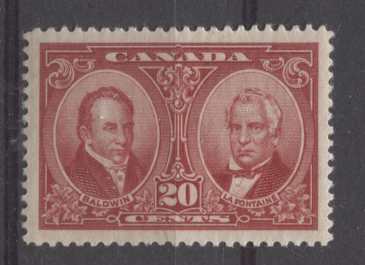 Canada #148 (SG#273) 20c Carmine Red La Fontaine & Baldwin 1927 Historical Issue VF-84 LH Brixton Chrome
