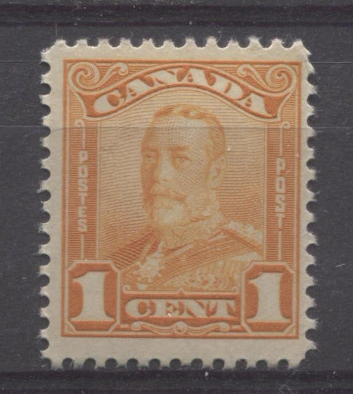 Canada #149 (SG#275)1c Orange King George V 1928 Scroll Issue Paper With No Mesh F-70 LH Brixton Chrome