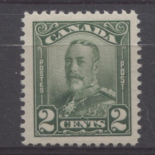 Canada #150 (SG#276) 2c Deep Green King George V 1928 Scroll Issue Paper With No Mesh VF-80 J LH Brixton Chrome