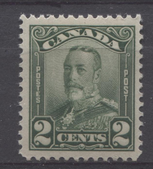 Canada #150 (SG#276) 2c Deep Green King George V 1928 Scroll Issue Paper With No Mesh VF-80 NH Brixton Chrome