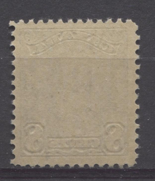 Canada #154 (SG#280) 8c Indigo King George V 1928 Scroll Issue Paper With No Mesh F-73 NH Brixton Chrome