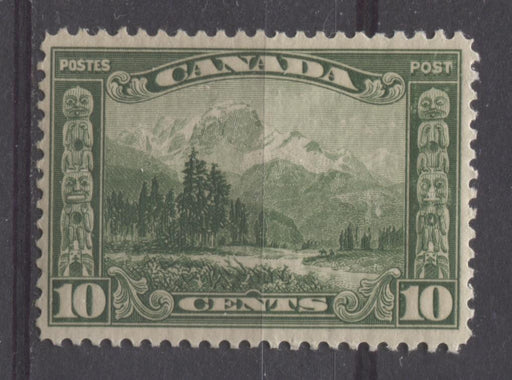 Canada #155 (SG#281) 10c Deep Yellow Green Mt. Hurd 1928 Scroll Issue VF-75 NH Brixton Chrome